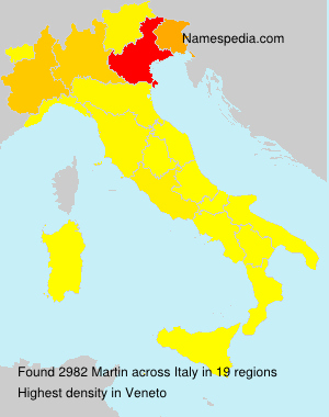 Surname Martin in Italy