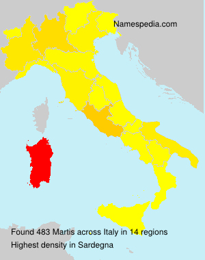 Surname Martis in Italy