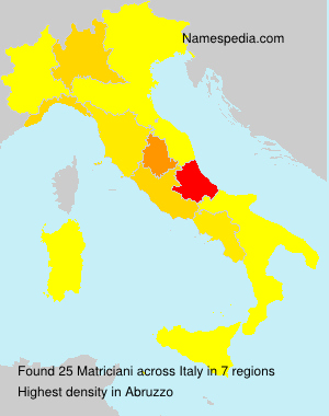 Surname Matriciani in Italy