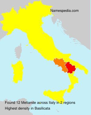 Surname Meliande in Italy