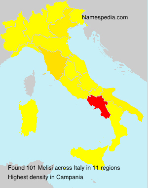 Surname Melisi in Italy