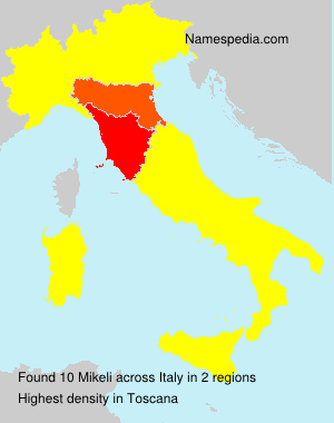 Surname Mikeli in Italy