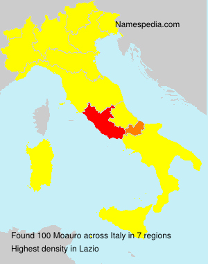 Surname Moauro in Italy