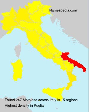 Surname Motolese in Italy