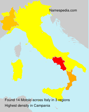 Surname Motolo in Italy