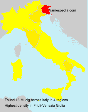 Surname Mucig in Italy