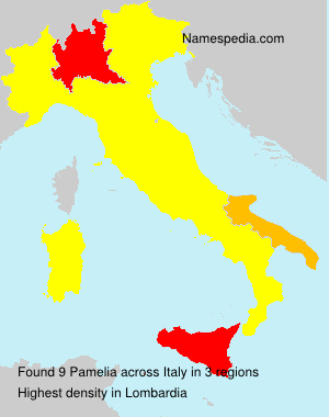 Surname Pamelia in Italy