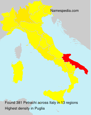 Surname Petrachi in Italy