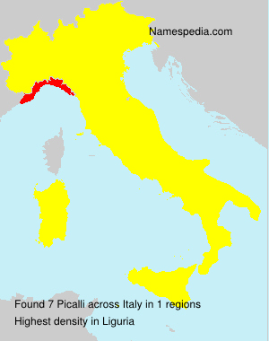 Surname Picalli in Italy
