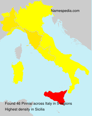 Surname Pinnisi in Italy