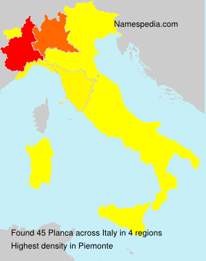 Surname Planca in Italy