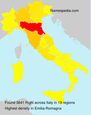 Surname Righi in Italy