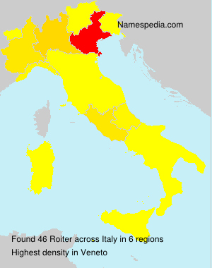 Surname Roiter in Italy