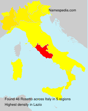 Surname Rosetto in Italy