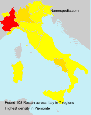 Surname Rostan in Italy