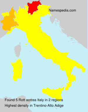 Surname Rott in Italy