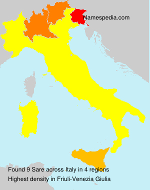 Surname Sare in Italy