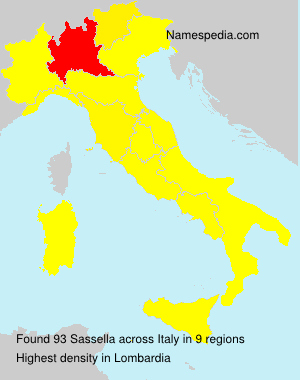 Surname Sassella in Italy