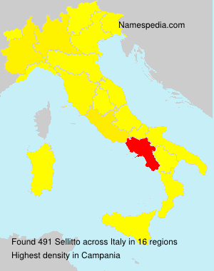 Surname Sellitto in Italy