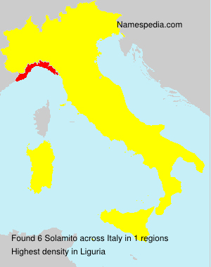 Surname Solamito in Italy