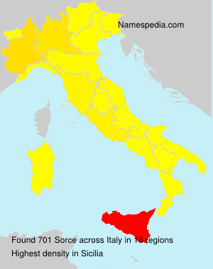 Surname Sorce in Italy