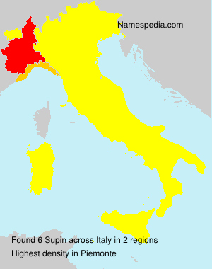 Surname Supin in Italy