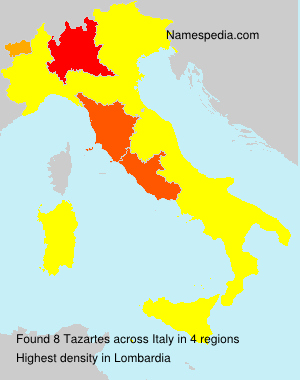 Surname Tazartes in Italy