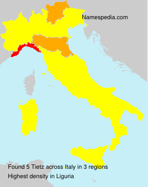 Surname Tietz in Italy