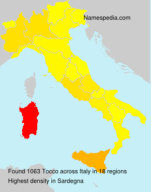 Surname Tocco in Italy