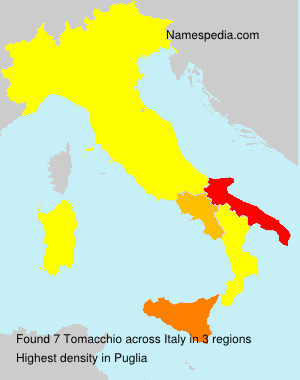 Surname Tomacchio in Italy