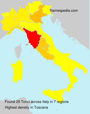 Surname Tonci in Italy