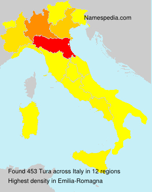 Surname Tura in Italy