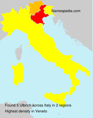 Surname Ulbrich in Italy
