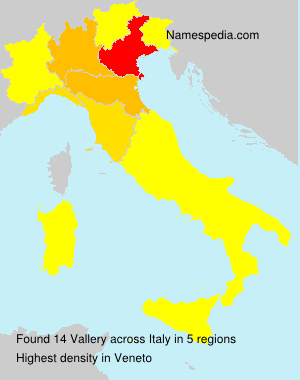 Surname Vallery in Italy