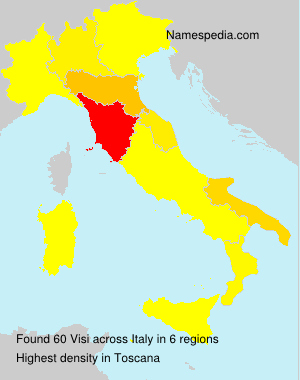 Surname Visi in Italy
