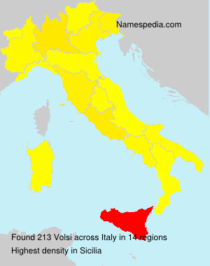 Surname Volsi in Italy