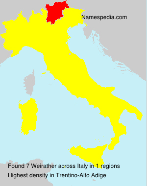 Surname Weirather in Italy