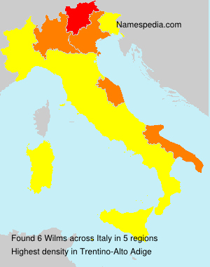 Surname Wilms in Italy