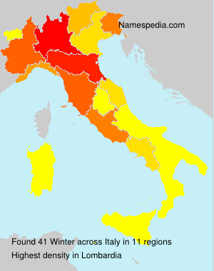 Surname Winter in Italy