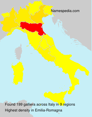 Surname galliera in Italy