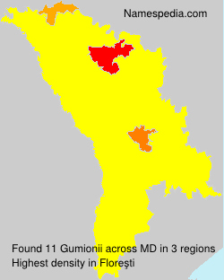 Surname Gumionii in Moldova