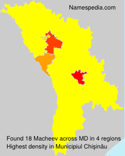 Surname Macheev in Moldova