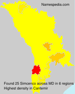 Surname Simcenco in Moldova