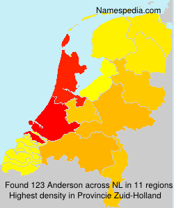 Surname Anderson in Netherlands