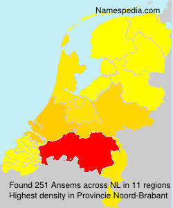 Surname Ansems in Netherlands
