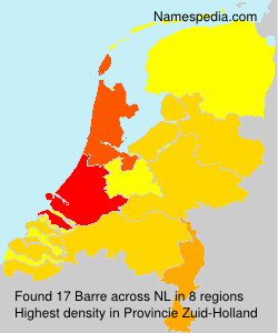 Surname Barre in Netherlands
