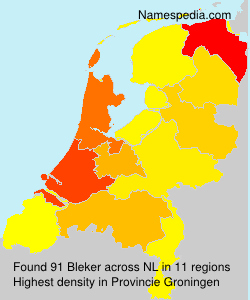 Surname Bleker in Netherlands