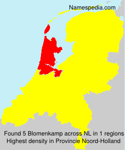 Surname Blomenkamp in Netherlands