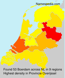 Surname Boerdam in Netherlands