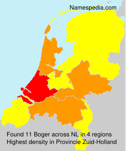 Surname Boger in Netherlands